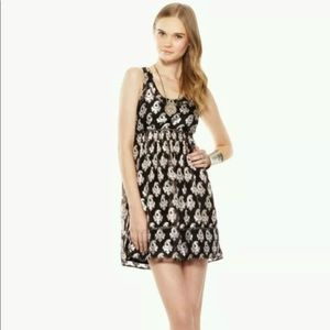 Free People Studded Black and Gold Holiday Dress